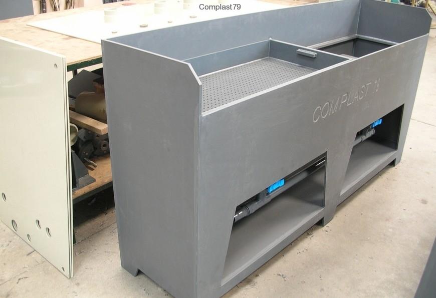 lavorazione materie plastiche Banco lavaggio in PVC