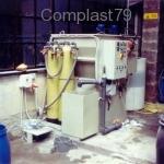 Impianto chimico fisico in PP per trattaemnto acque
