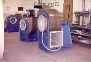 Ventilatore centrifugo in PP e PRFV