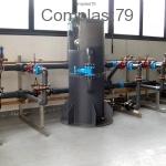 Impianto in PVC per collaudo valvole